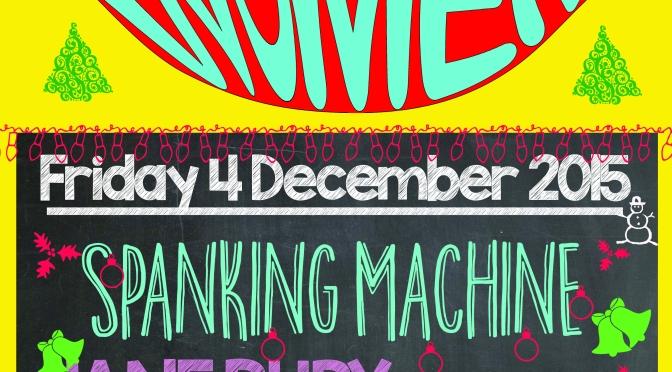 4 Dec 2015: Emily C. Smith | Jane Ruby (& her crappy raffle) | Spanking Machine @ Veg Bar, Brixton