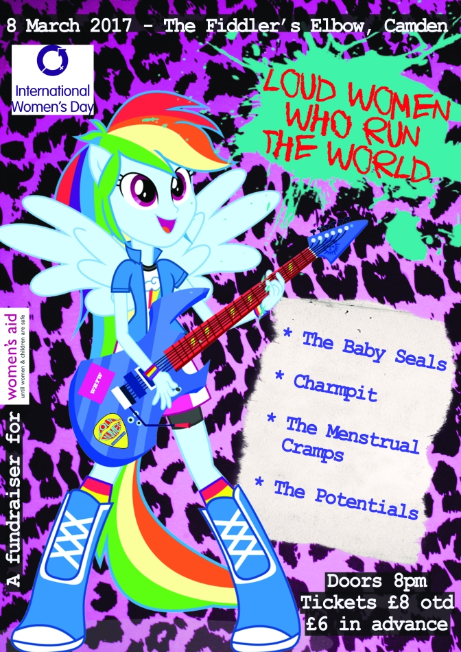 8 March: The Baby Seals, Charmpit, The Menstrual Cramps & The Potentials