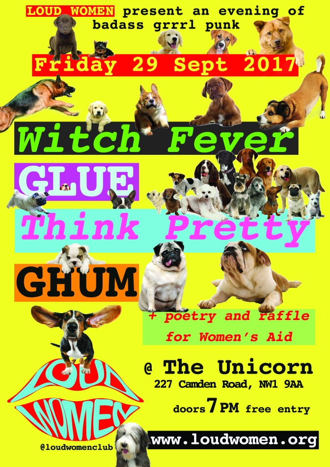 29 Sept 2017: Ghum, Glue, Think Pretty and Witch Fever