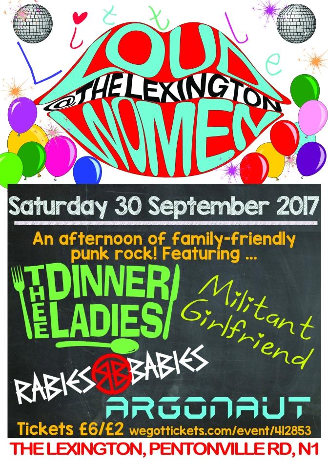 Little LOUD WOMEN – 30 Sept at The Lexington