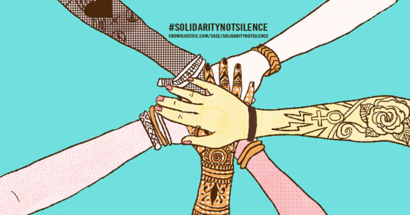 https://www.crowdjustice.com/case/solidaritynotsilence