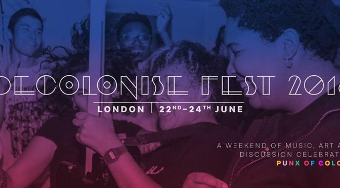 Decolonise Fest announces 2018 line-up