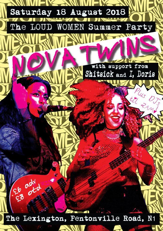 Next gig: Nova Twins, Sh!ts!ck, I, Doris – plus Age of Consent 80s night