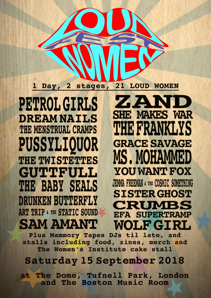 The LOUD WOMEN Fest 3 line-up revealed!